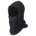 BLACk SINGLE-LAYER MICRO FLEECE HOOD WITH FACE MASK