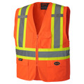 Hi-Viz Zippered Safety Vest
