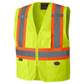 Hi-Viz Zipper FRont Safety Vest