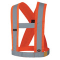 "5490 HI-VIZ CSA 4"" WIDE ADJUSTABLE SAFETY SASH"