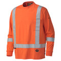 339SFA Flame Resistant Long-Sleeved Cotton Safety Shirt Front