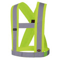 "V1040360 Hi-Viz CSA 4"" Wide Adjustable Safety Sash"