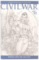 Civil War #6 - Sketch Variant