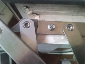 Removal of Rivited Friction hinges