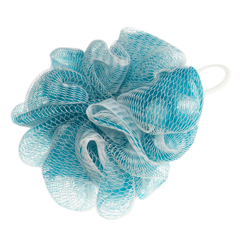 This blue and white pouf is perfect for applying our Vitabath Gelee or Exfoliating Sugar Scrub in the shower.