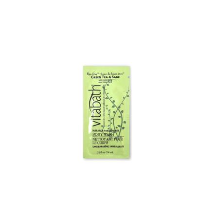 Green Tea & Sage 0.25 fl.oz Body Wash Packette