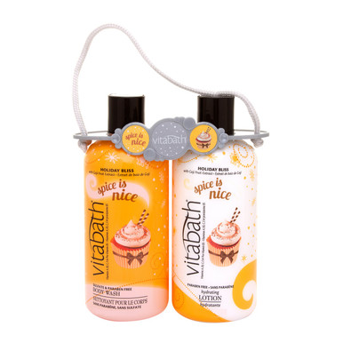 Vitabath Spice is Nice Body Wash and Hydrating Lotion Carrier Set