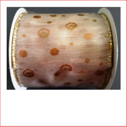 Christmas Ribbon Yuletide Cream Ribbon with Gold Dots 63mm looks great with the final touch of the gold dots.