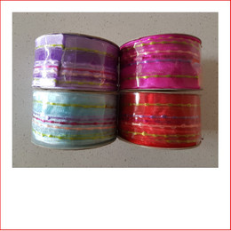 Christmas Ribbon Carnival Range- 4 different colours, all sold separately