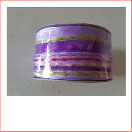 Christmas Ribbon Purple with Coloured Stripes 38mm is a beautiful bright and vibrant coloured carnival Ribbon