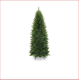 "Pencil Vienna Spruce Christmas Tree 2.28m This is a slimmer version of our most popular tree.   Featuring a pencil shape with 3¼"" tufted tips, the effect is a soft natural looking tree.   Perfect for those who like our most popular Christmas tree, the Vienna Spruce, but can't accommodate its size. Decorate with ease.      Branches reach close to the floor.    Colour: Hunter Green (slightly lighter than dark green)"