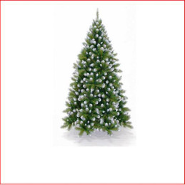 "Grand Empress Spruce 1.98m Want your tree to really stand out?  This tree is made with a mixture of 2 styles of tips and 2 palettes of green (2½"" mature dark green tips and 1½"" new growth green tips). For that real snowy mountain feel, we have created a lush tree with frosted white tips.   Branches reach close to the floor."