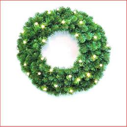 Alberta Spruce Wreath 46cm Pre-Lit 20 LED Lights