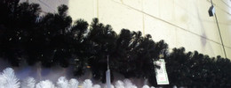 Alberta Spruce Garland 9ft Black