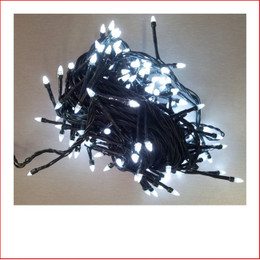 The 160 LED Crystal Christmas Lights Super White are a great size to decorate a medium to large christmas tree or other christmas display pieces like wreaths, garlands, wall trees, topiary balls. The 160 LED Crystal Christmas Lights Super White is a unique shape bulb that gives your lighting and display the perfect touch and different to your next door neighbours christmas display. Decorating with christmas Led fairy lights is endless as the led lights can be used Indoor/Outdoor and you can create to your imagination. Led Lights can be used on your gutter, roof or your palm tree in the front yard. The beauty of the LED Lights is that they are energy efficient and very little power is used and you can enjoy a joyful Merry Christmas at low energy cost. Christmas Lights don't have to be used at christmas time only, you can use them for a special event like a birthday, party or any celebration.