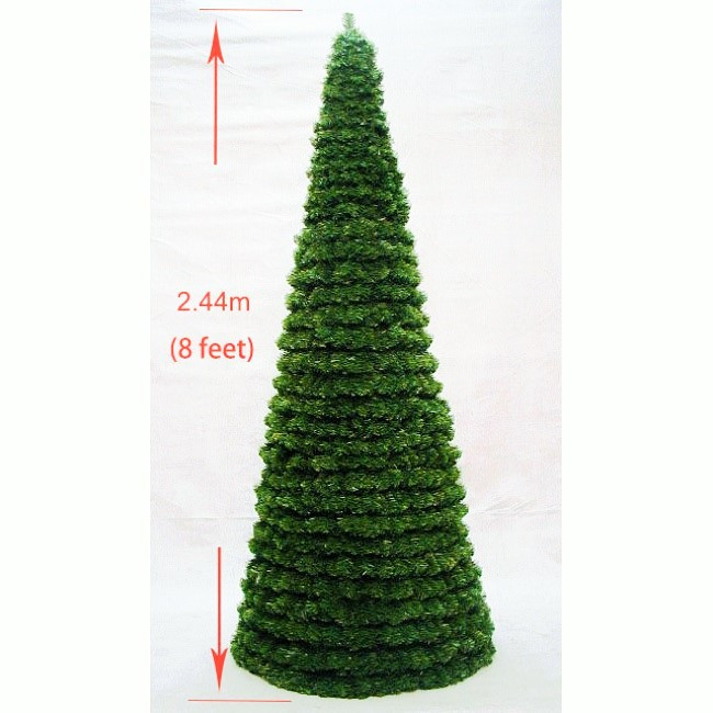 25cm Large Outdoor Commercial Christmas Tree Bauble: Modular Cone Tree 8ft Indoor-Outdoor