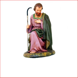 The Polyresin Saint Joseph is just a piece to your nativity scene, we also have Mary, Nativity Angel and Baby Jesus that are sold seperately to complete your Christmas Nativity Scene.