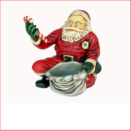 The Polyresin Santa Claus Kneeling is the favourite for a table centre piece, kids adore the little santa as many fill the little sack with little presents or lollies.