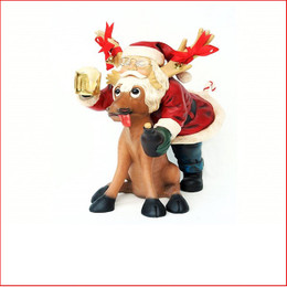 Polyresin Santa's After Happy Hour is a great table decoration or a centre piece in your display