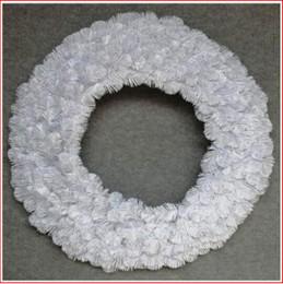 Alberta Spruce Wreath 91cm White