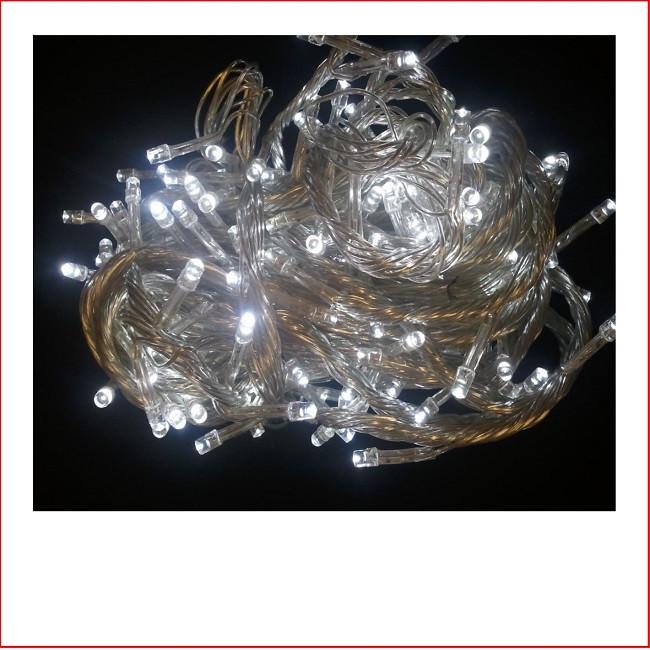 160 Super White LED Lights-Translucent Cord