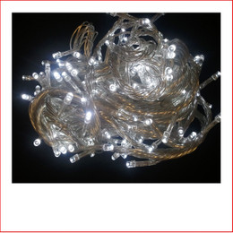 160 Super White Led Lights Translucent Cord