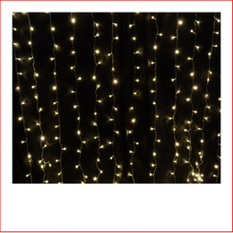 The LED Curtain Light Warm White Christmas Lights are a great size to decorate a back drop. Decorating with The LED Curtain Light Warm White Christmas Lights  is endless as the led lights can be used Indoor/Outdoor and you can create to your imagination. The LED Curtain Light Warm White Christmas Lights can be used for weddings as the warm led lights are very popular for special events, they can be installed in the back drop or against any wall, door entry or just out of the ceiling. The beauty of the LED Lights is that they are energy efficient.