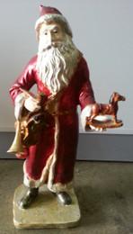 Santa holding Rocking Horse