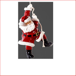 The Polyresin Hanging Santa 3ft is great for a hanging decoration from the ceiling in shopping centres, foyers or your christmas display