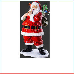 Polyresin Santa with Toys 6ft is large Christmas decor at its best There is plenty of fantastic detail on the sack where the presents are showing. Santa Clause is coming to town with his Christmas sack full of presents creating a must have piece for your christmas display.