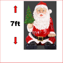 The Polyresin Giant Sitting Santa 7ft is the largest sitting Santa we have in our large Christmas decor range. The Giant Sitting Santa 7ft will give you amazing wow factor in your next Christmas display. If you want your display to sit above the rest then this is the piece for you. An eye popping, jaw dropping giant Santa that the kids and adults eyes will be glued to.