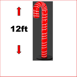 Large Christmas Decor Polyresin Candy Cane 12ft is a piece that stand well in every christmas display, can be added in the front or through out the display. The Candy Cane 12ft is so popular that you will see this item at shopping centres and all public sectors