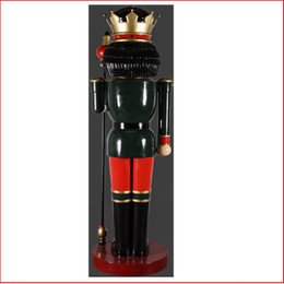The Polyresin  Nutcracker 12ft with Scepter in Left Hand, image back view