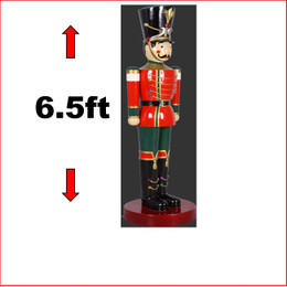 The Polyresin Toy Soldier 6.5ft is a popular soldier, kids adore his friendly smile, is great for santa set ups in shopping centres and christmas displays. There are many soldiers and nutcrackers available in all different sizes.
