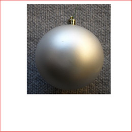 100mm Christmas Bauble - Silver - Wired Matte