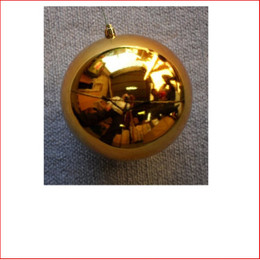 150mm Christmas Bauble - Gold - Wired Glossy