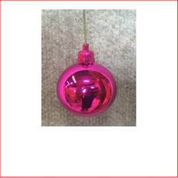 50mm Christmas Bauble - Cerise - Wired Glossy