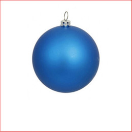 70mm Christmas Bauble - Blue - Wired Matte