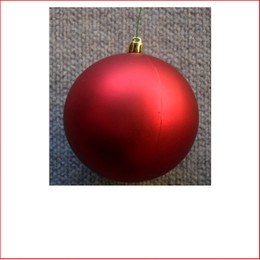 70mm Christmas Bauble - Red - Wired Matte