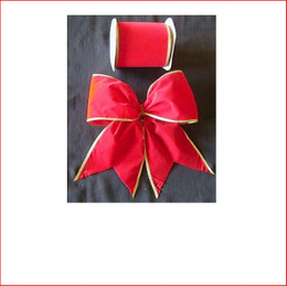 The Red Velvet with Gold Trim -75mm Single Bow is a traditional colour which is very popular as the traditional colour red is a colour that doesn't outdate. The Red Velvet - Gold Trim - 75mm Single Bow is pre made by our designer team to suit all garlands, wreaths, christmas trees and wall sequoia's. Red velvet is stylish and a favourite for corporate clients.
