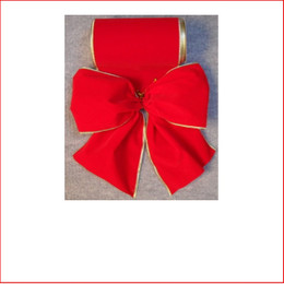 The Red Velvet with Gold Trim -150mm Single Bow is a traditional colour which is very popular as the traditional colour red is a colour that doesn't outdate. The Red Velvet - Gold Trim - 150mm Single Bow is pre made by our designer team to suit all garlands, wreaths, christmas trees and wall sequoia's. Red velvet is stylish and a favourite for corporate clients.