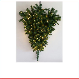Sequoia Wall Christmas Tree 3ft, Led Lights can be Pre Lit - POA