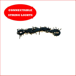 1 String x 100 LED Lights Connectable Warm White ( PLEASE NOTE ADAPTOR AND TRANSFORMER SOLD SEPARATELY - SEE BELOW FOR ADAPTORS AND TRANSFORMERS ). A great design where you can connect an additional 9 strings of 100 Led's in a straight line 10 x String LED Lights in a Straight Line Adaptor and transformer, a total length of 10 Strings consisting of 1000 LED Lights and a 100 metres of light.