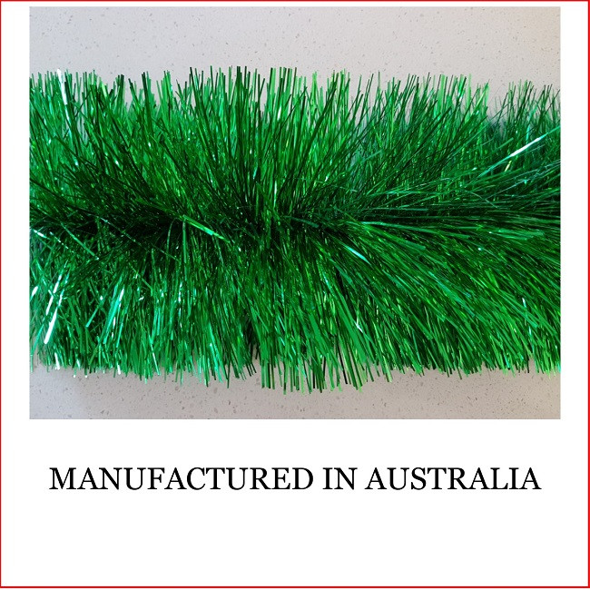 Commercial Christmas Trees From 12 To 100 In Height: Tinsel Garland Green-4 Ply -100mm X 5.5m