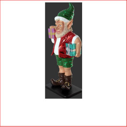 The new design Polyresin Christmas Elf with two gifts 2ft, just beautiful plenty of fun, cute and adorable, also available is the christmas sunny elf with two gifts 2ft and elf with two gifts 3ft as well, beautifully designed an aussie christmas elf plenty of fun to your display, the kids will love all the range of elfs, they are so cute!! Lovely christmas piece for the kids bedroom. The Polyresin Christmas Elf with two gifts 2ft is hand crafted from Fibreglass/Resin which enables a hard durable product, the resin statue will last for many years.
