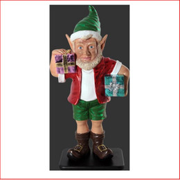 The design Polyresin Christmas Elf with two gifts 3ft is playful, fun, adorable and beautifully crafted. Whether it be in the garden or even the kids bedroom this little Aussie elf will bring joy to your Christmas.