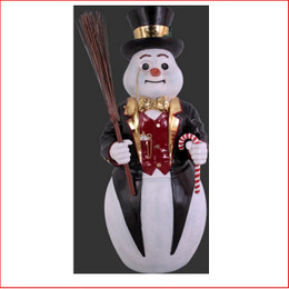 The new design Polyresin Snowman Black Contemporary Design 140cm a modern contemporary style snowman, very elegant design. The Snowman Black Contemporary Design 140cm is a great start to your christmas display which will create the wow factor. The Snowman Black Contemporary is a great piece for your christmas winter wonderland The Polyresin Snowman Black Contemporary Design 140cm is hand crafted from Fibreglass/Resin which enables a hard durable product, the resin statue will last for many years.