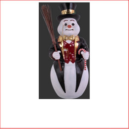 The Poly-resin Snowman Black Contemporary Design 4ft is a modern contemporary style snowman with a very elegant design. This Snowman is a great start to creating an amazing winter wonderland scene for your Christmas display. Add a dash of class and wow factor with The Snowman Black Contemporary.