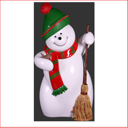 The new design Polyresin Snowman Red-Green-White 160cm a modern contemporary style snowman, very elegant design. The Snowman Red-Green-White 160cm is a great start to your christmas display which will create the wow factor. The Snowman Red-Green-White 160cm is a great piece for your christmas winter wonderland. The Polyresin Snowman Red-Green-White 160cm is hand crafted from Fibreglass/Resin which enables a hard durable product, the resin statue will last for many years.