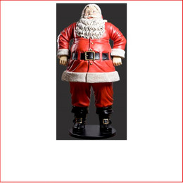 Front View Polyresin Jolly Santa 6ft, a beautiful centre piece in your christmas display, large christmas decor at its best, plenty of fantastic detail on the sack where the presents are showing. Santa Clause is coming to town with his christmas sack full of presents, a must for your christmas display. Polyresin Jolly Santa 6ft is individually hand crafted from Fibreglass/Resin which enables a hard durable product, the resin statue will last for many years.